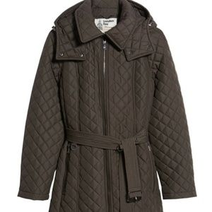 London Fog - Diamond Quilted Hooded Jacket